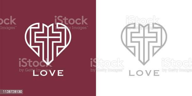Christian love heart and cross icon vector id1128728130?b=1&k=6&m=1128728130&s=612x612&h=kslajbokiwej3acjkm0jge893  0lsrsc6o6ymx8iqi=
