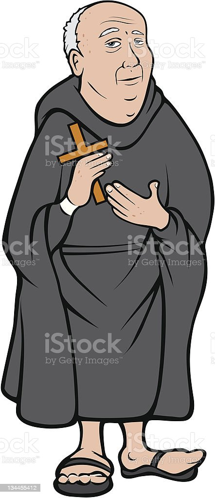 Christian monk royalty-free stock vector art