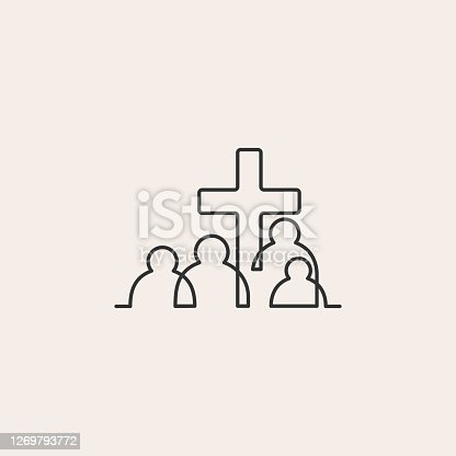 istock christian people community hipster vintage vector icon illustration 1269793772