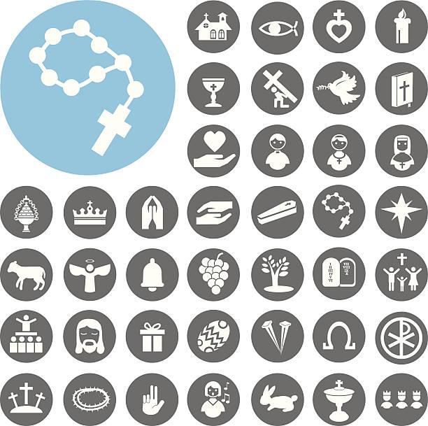 Christlichen religion Zeichen und symbol.  Illustration eps10 – Vektorgrafik