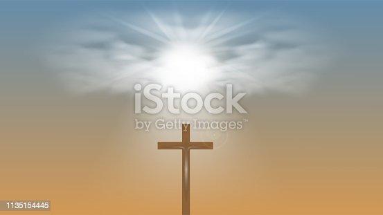 istock Christian religious design for Easter celebration. 1135154445