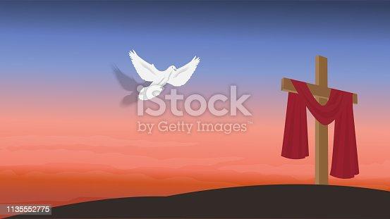 istock Christian religious design for Easter celebration. 1135552775