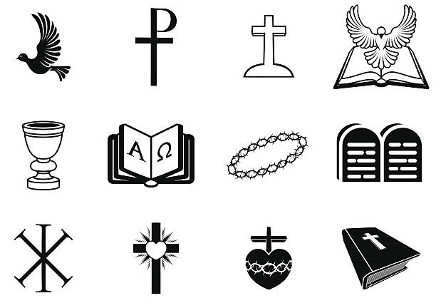 christian religious signs and symbols - religious symbols stock illustrations, clip art, cartoons, & icons