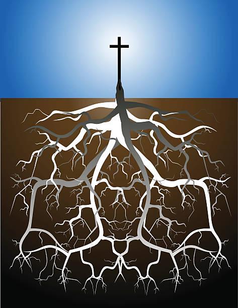Christian korzenie – artystyczna grafika wektorowa