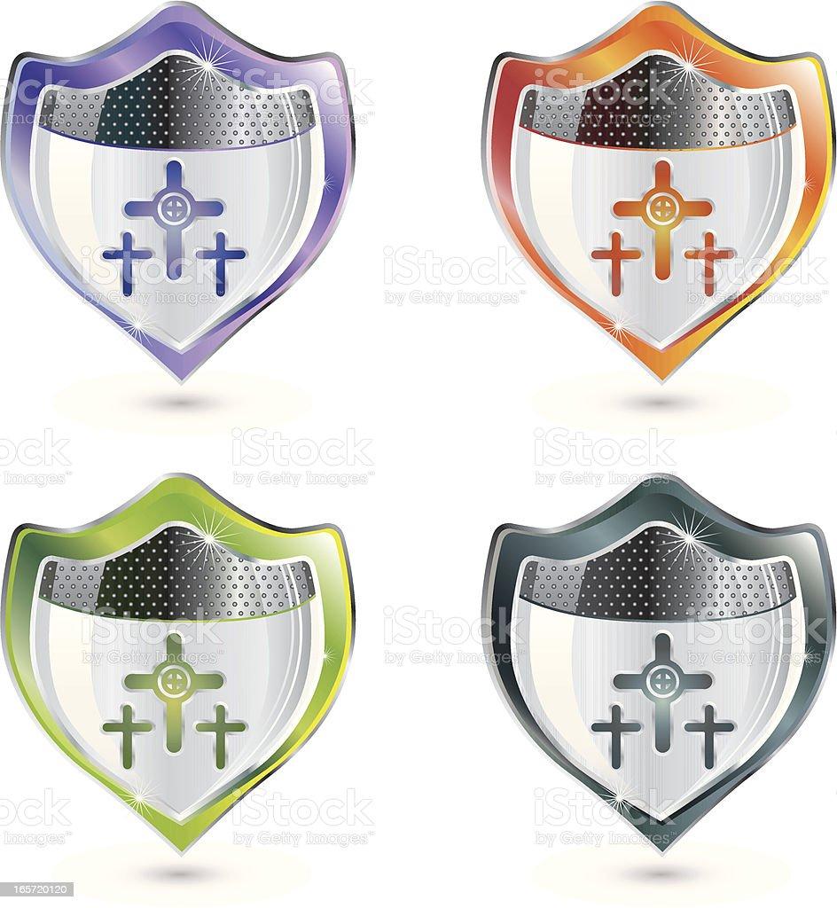 Christian Shield vector art illustration