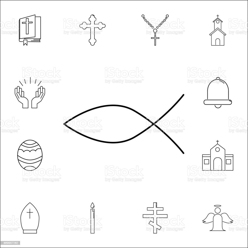 Christian Symbol Fish Icon Set Of Religion Icons Web Icons Premium