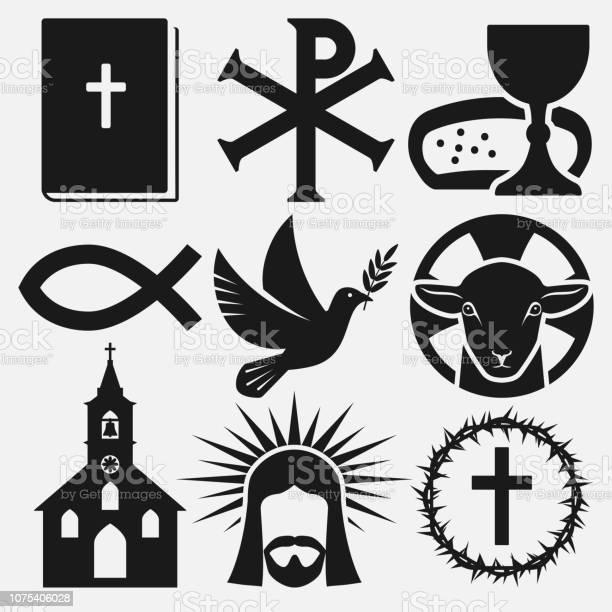 Christian symbols icons set vector id1075406028?b=1&k=6&m=1075406028&s=612x612&h=knqlm0lq6dqiblk59omxki4egbs2hoalyill79w wpc=