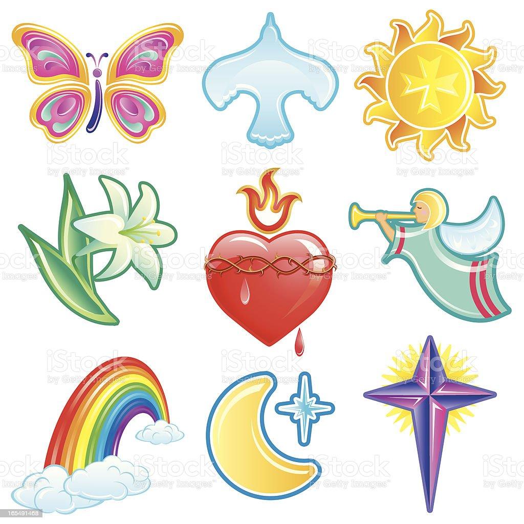 Christian Symbols Set B royalty-free christian symbols set b stock vector art & more images of angel