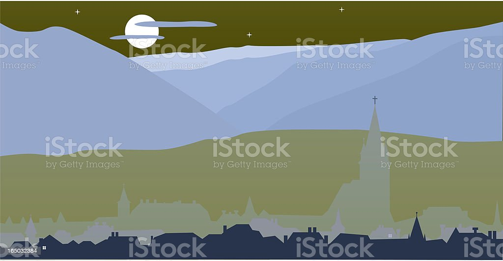 Christian Village royalty-free stock vector art