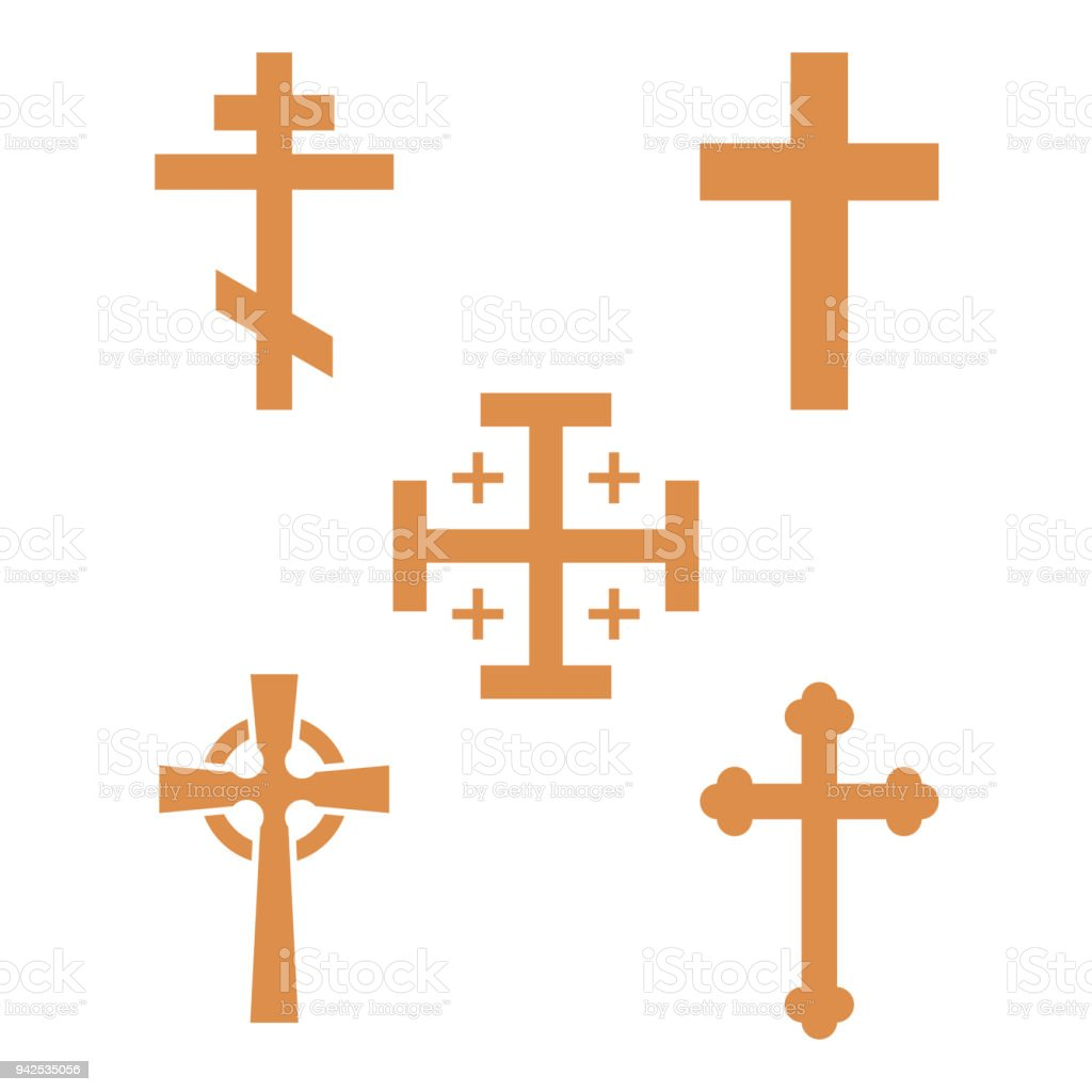Christentum Kirche Kreuz Religion Religionsfanatismus Flache ...