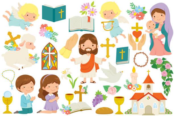 Christianity clipart bundle vector art illustration