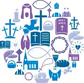 A set of religious Christian icons. See below for other religious icon sets. http://www1.istockphoto.com/file_thumbview_approve/43489204/2/istockphoto_43489204-Fruit-and-Vegetable-Icon-Set.jpg