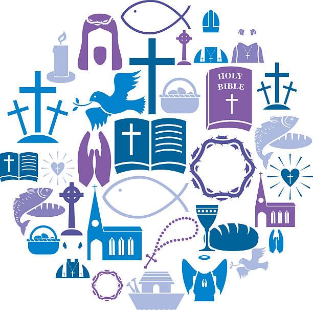 bildbanksillustrationer, clip art samt tecknat material och ikoner med christianity icon set - ljus på grav