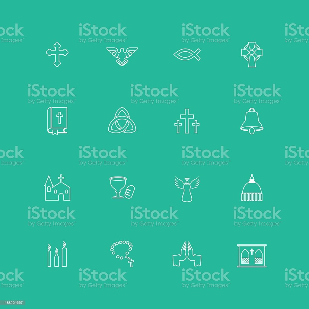 Christianity Icons vector art illustration