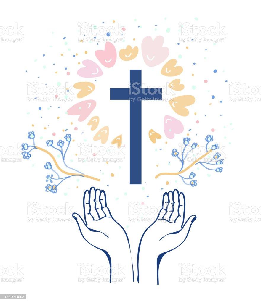 キリスト教宗教背景イラスト アイコンのベクターアート素材や画像を
