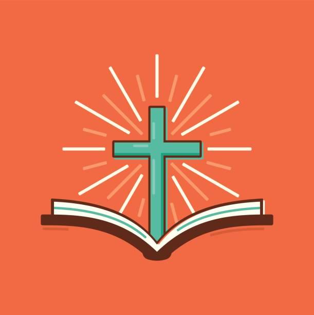 hıristiyanlık dini i̇ncil haç sembolü - mimari illüstrasyonlar stock illustrations