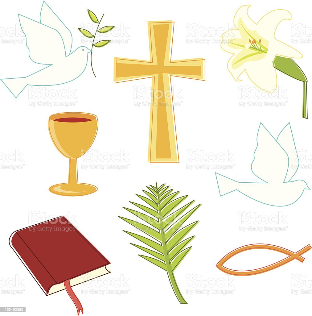 Christianity Symbols vector art illustration