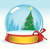 Christma Tree Snow Globe