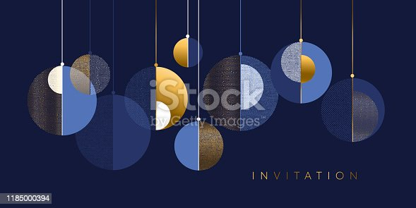istock Christmas abstract bauble elegant geometric header 1185000394