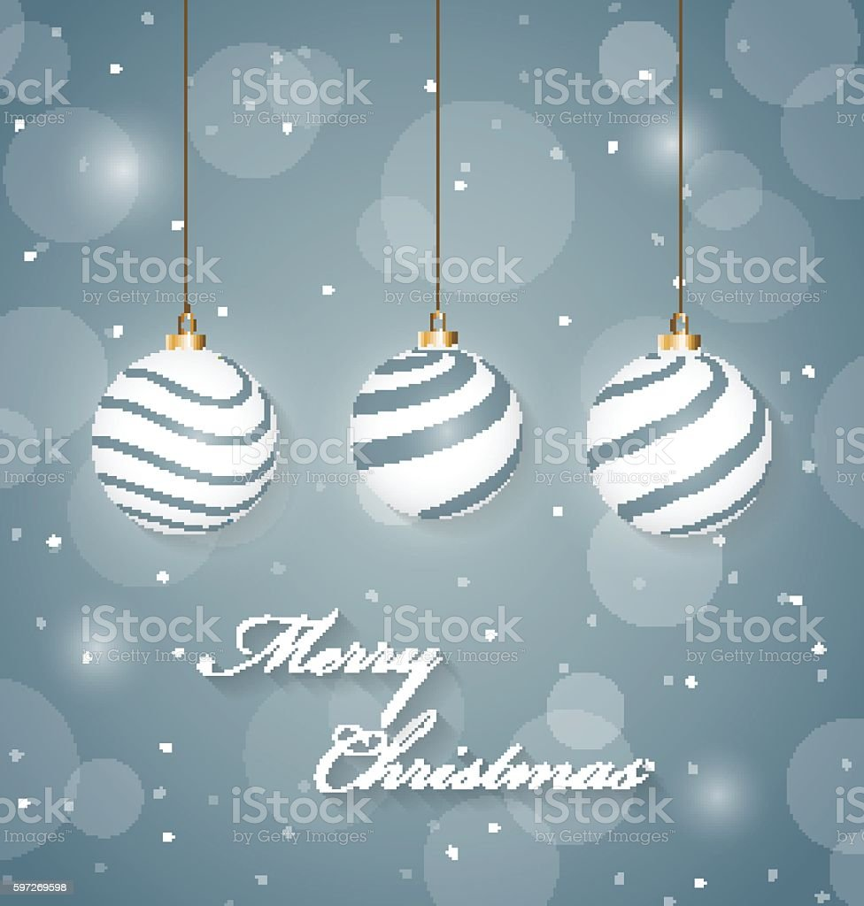 Christmas abstract poster with hanging christmas balls Lizenzfreies christmas abstract poster with hanging christmas balls stock vektor art und mehr bilder von bildhintergrund