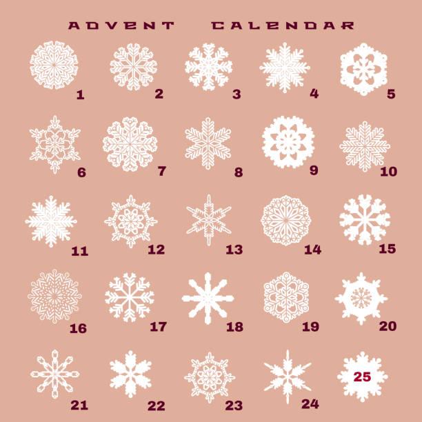 weihnachts-adventskalender 1 - adventskalender tür stock-grafiken, -clipart, -cartoons und -symbole