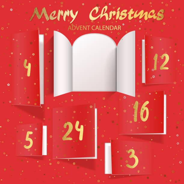 weihnachten adventskalender türöffnung - adventskalender tür stock-grafiken, -clipart, -cartoons und -symbole