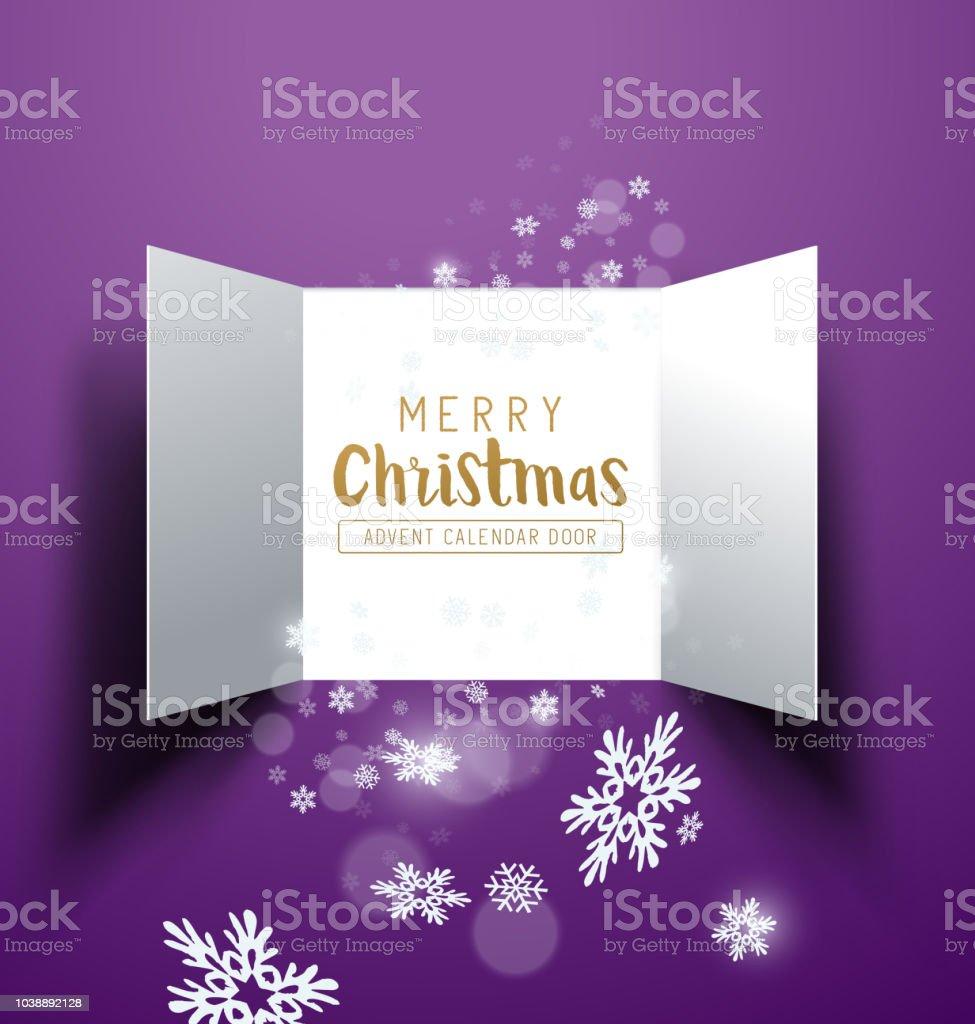 Weihnachten Advent Kalender Türen – Vektorgrafik