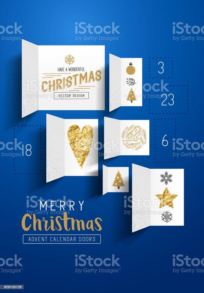 Christmas Advent Calendar Doors - clipart vectoriel de Anticipation libre de droits