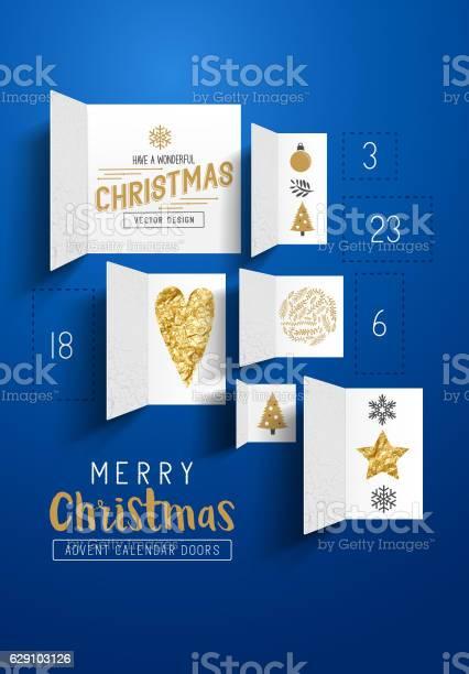 Christmas Advent Calendar Doors Vecteurs libres de droits et plus d'images vectorielles de Anticipation