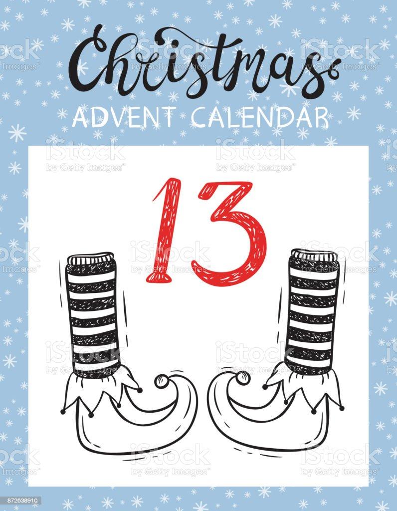 Tear-Off Christmas Countdown Calendar