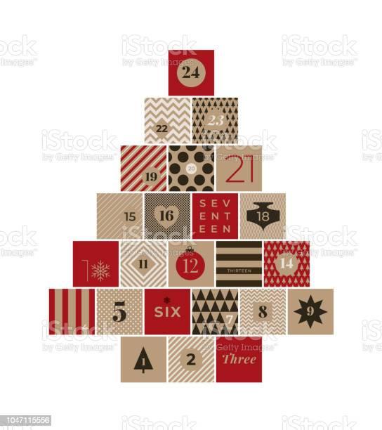 Noël Calendrier De Lavent Vecteurs libres de droits et plus d'images vectorielles de 2018