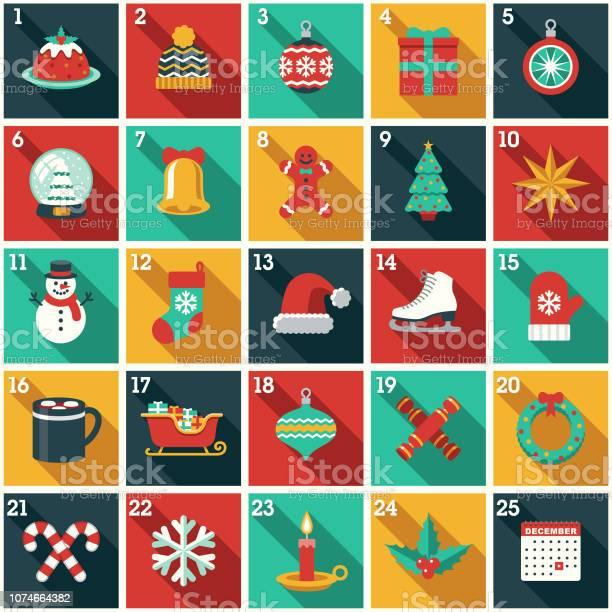 Calendrier De Lavent Noël Vecteurs libres de droits et plus d'images vectorielles de Arbre