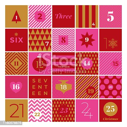 istock Christmas advent calendar. 1160576675