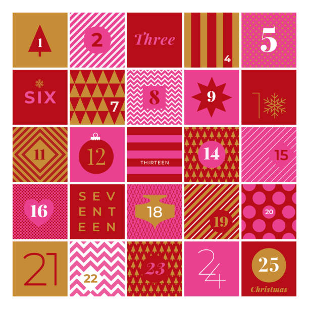 christmas advent calendar. - advent stock illustrations