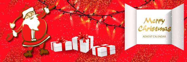 weihnachts-adventskalender - adventskalender tür stock-grafiken, -clipart, -cartoons und -symbole