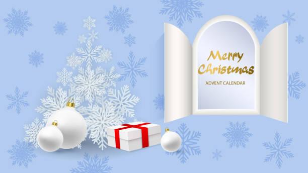 weihnachts-adventskalender. - adventskalender tür stock-grafiken, -clipart, -cartoons und -symbole