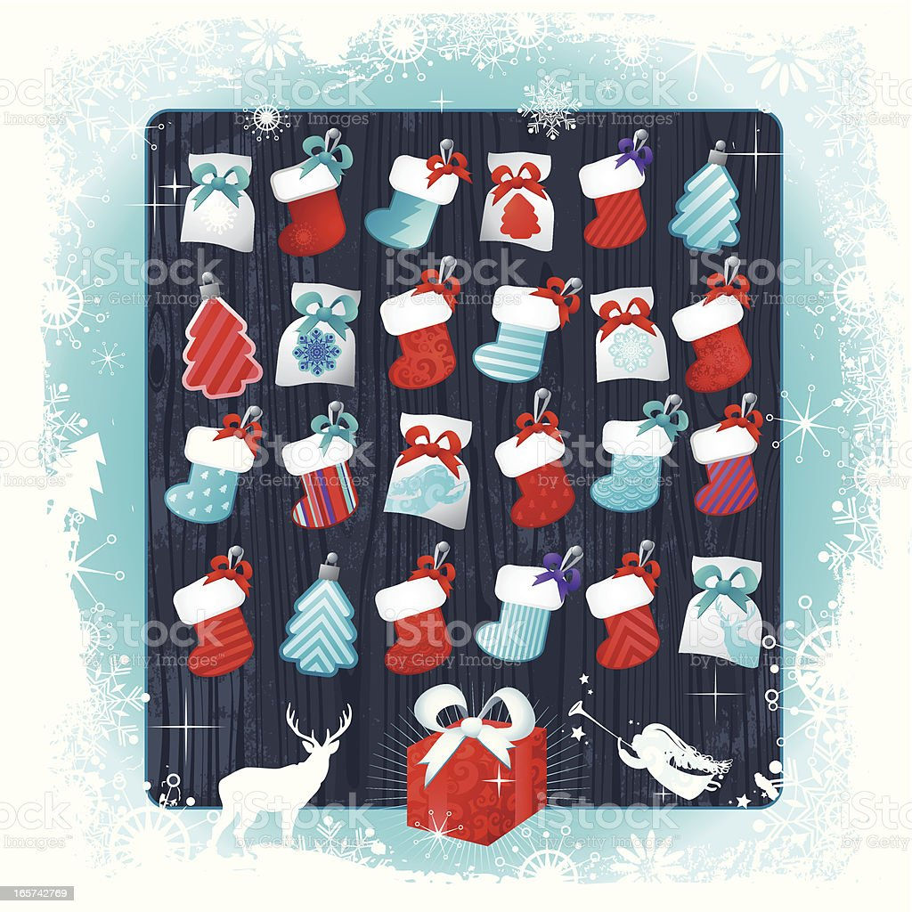 Christmas Advent Calendar royalty-free stock vector art