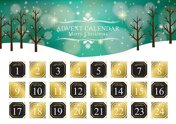 illustrations, cliparts, dessins animés et icônes de noël, calendrier de l'avent - advent