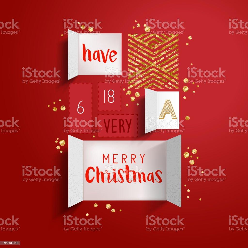 Noël, calendrier de l'avent - clipart vectoriel de Anticipation libre de droits