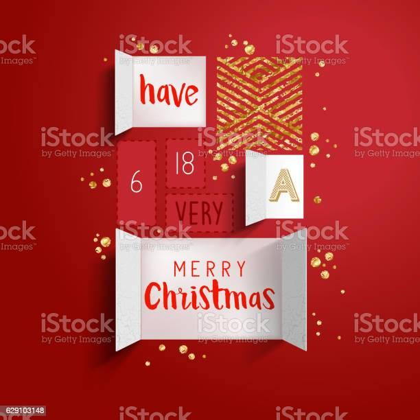 Christmas Advent Calendar-vektorgrafik och fler bilder på Adventskalender