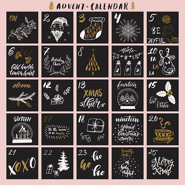Weihnachts-Adventskalender – Vektorgrafik