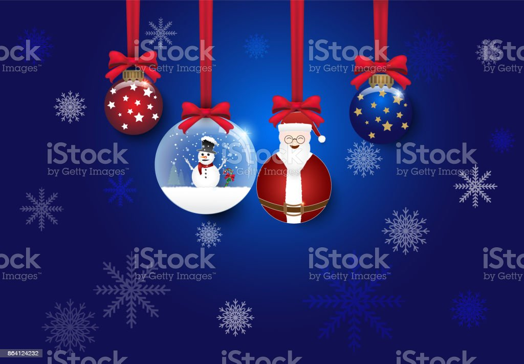 Christmas and ball decoration blue vector background royalty-free christmas and ball decoration blue vector background stock vector art & more images of abstract