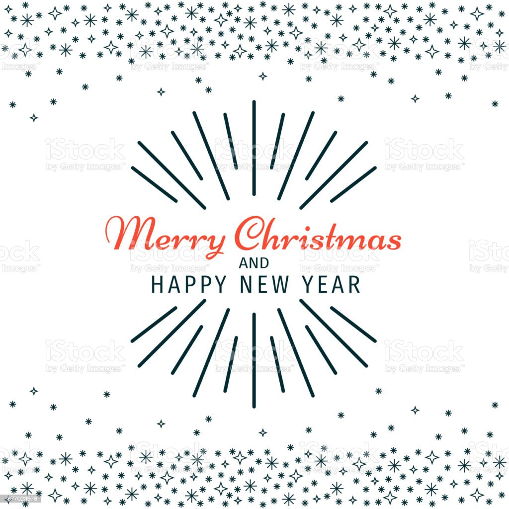 christmas and happy new year black and white invitation card poster postcard banner