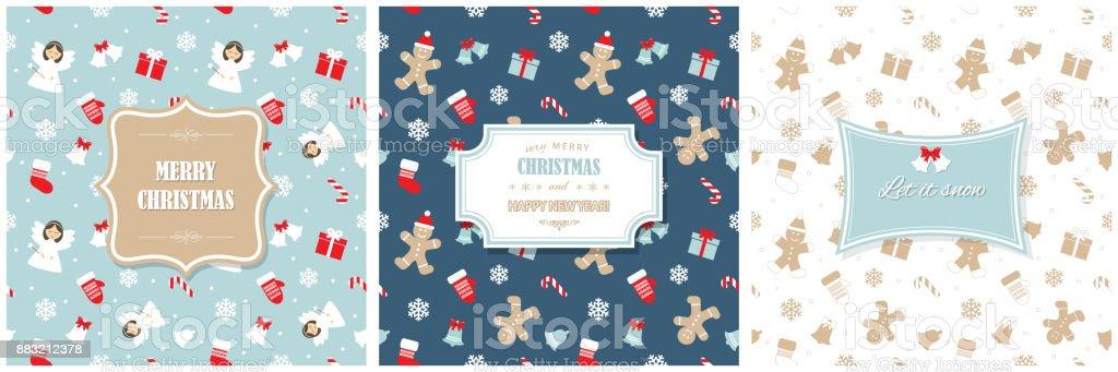 Weihnachten Und Glückliches Neues Jahr Grußkartenvorlagen ...