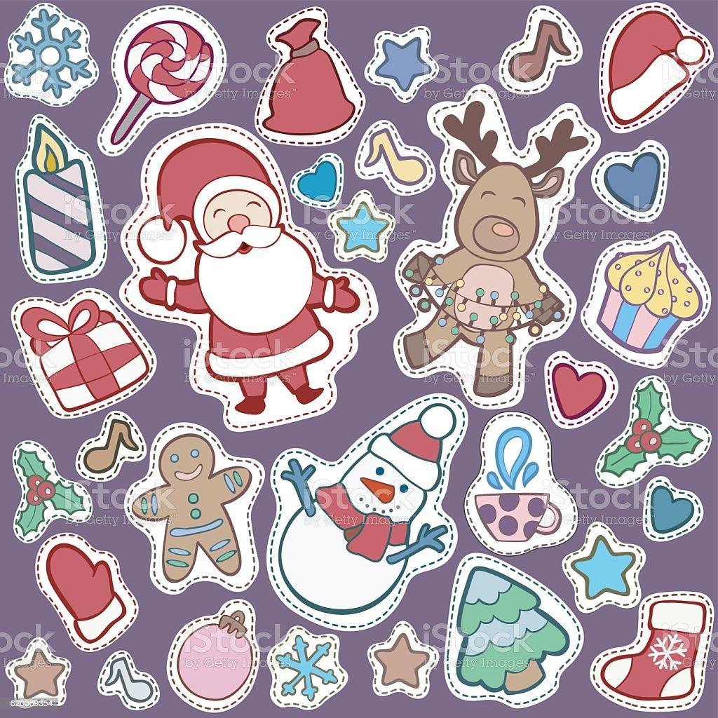 Christmas and Happy new year patch badges christmas and happy new year patch badges - arte vetorial de stock e mais imagens de abeto royalty-free