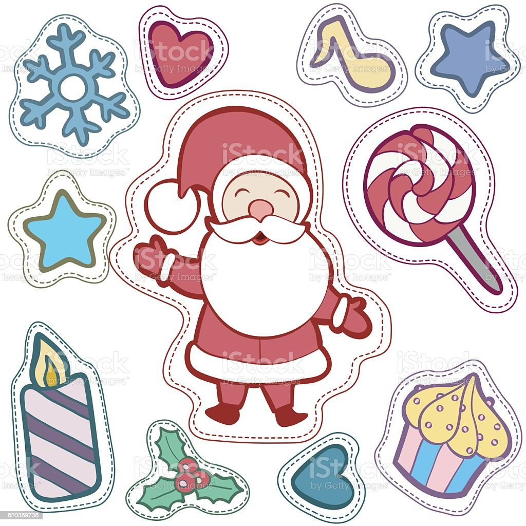 Christmas and Happy new year patch badges christmas and happy new year patch badges - arte vetorial de stock e mais imagens de abeto royalty-free