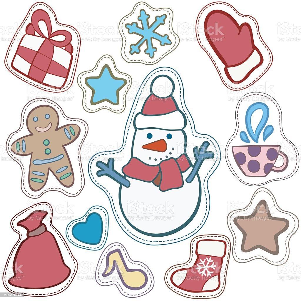 Christmas and Happy new year patch badges christmas and happy new year patch badges - stockowe grafiki wektorowe i więcej obrazów bałwan śniegowy royalty-free