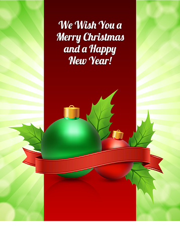 Christmas and Holiday Festive Card Banner