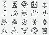 Christmas and Holiday Line Icons