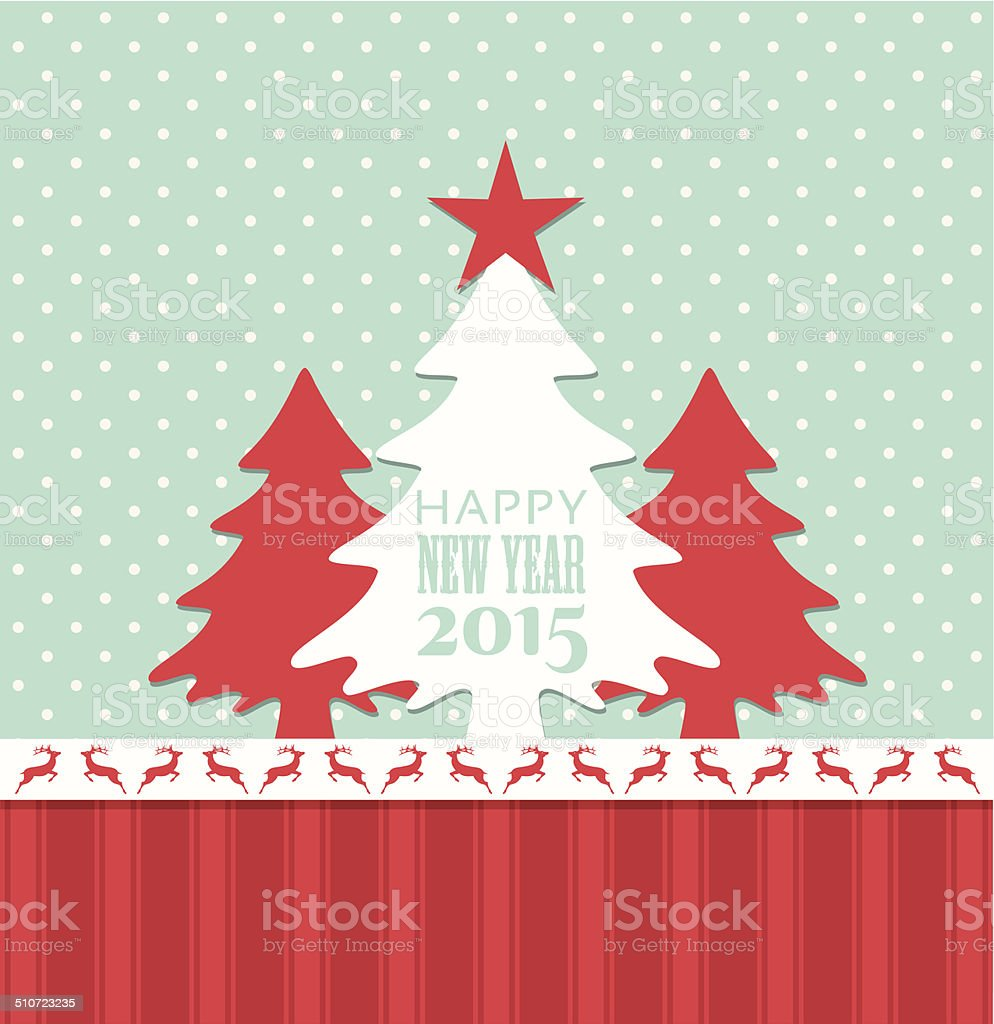 Christmas And New Year 2015 Greeting Card Stock Vector Art More